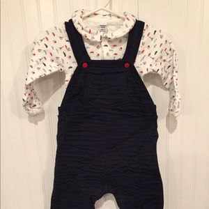 Petit bateau overalls and body suit NWOT